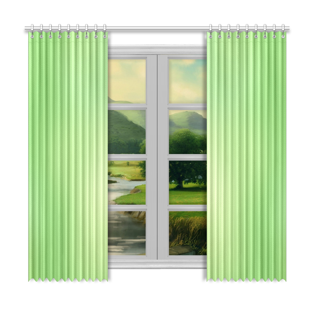 "Mandy Green - green abstract Window Curtain 50""x96""(Two Piece)"