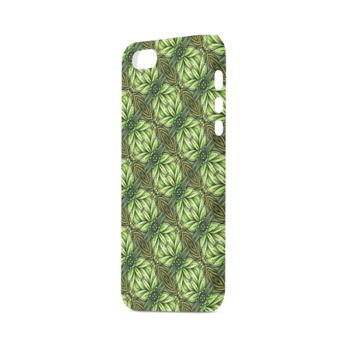 Mandy Green - Leaf Weave small foliage Hard Case for iPhone SE