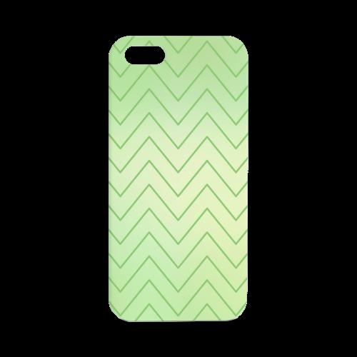 Mandy Green zigzag Chevron 2 Hard Case for iPhone SE