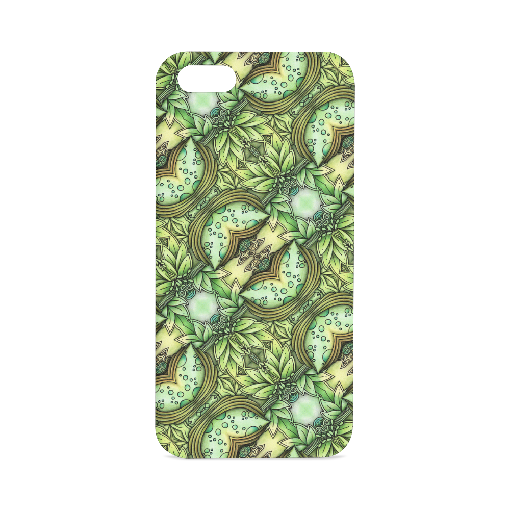 Mandy Green - water garden leaves pattern Hard Case for iPhone SE