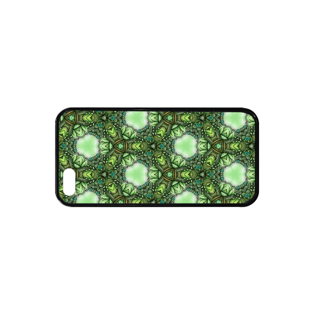Mandy Green- Forest Circles pattern Rubber Case for iPhone SE