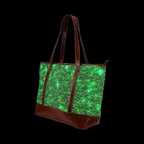 Sparkling Green - Jera Nour | Tote Handbag (Model 1642)