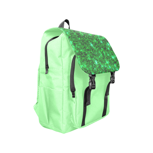 Sparkling Green - Light Green - Jera Nour | Casual Shoulders Backpack (Model 1623)