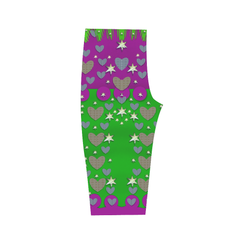The Brightest sparkling stars Is Love Hestia Cropped Leggings (Model L03)