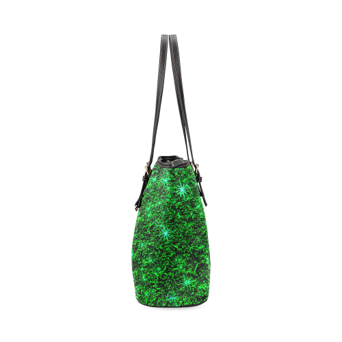 Sparkling Green - Jera Nour | Leather Tote Bag/Small (Model 1640)