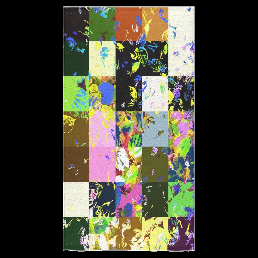 "Foliage Patchwork #3 - Jera Nour Bath Towel 30""x56"""