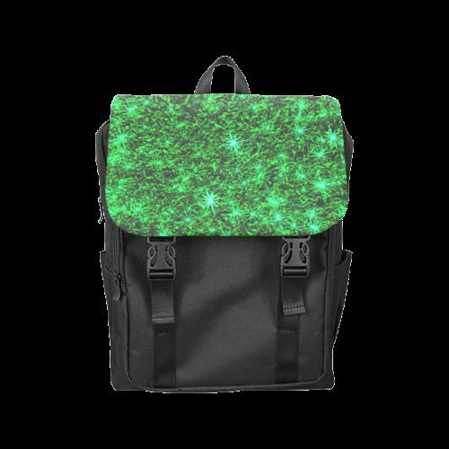 Sparkling Green - Black - Jera Nour   Casual Shoulders Backpack (Model 1623)
