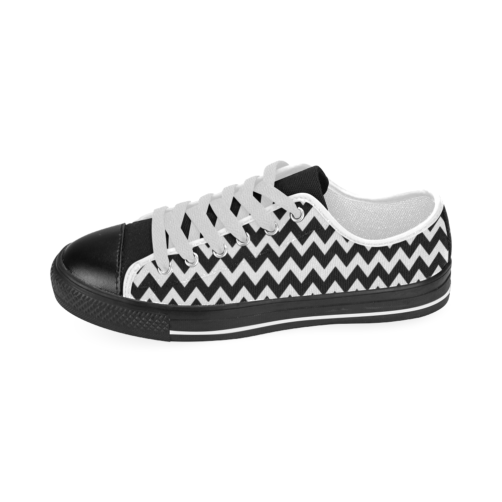 chevron Men's Classic Canvas Shoes (Model 018)