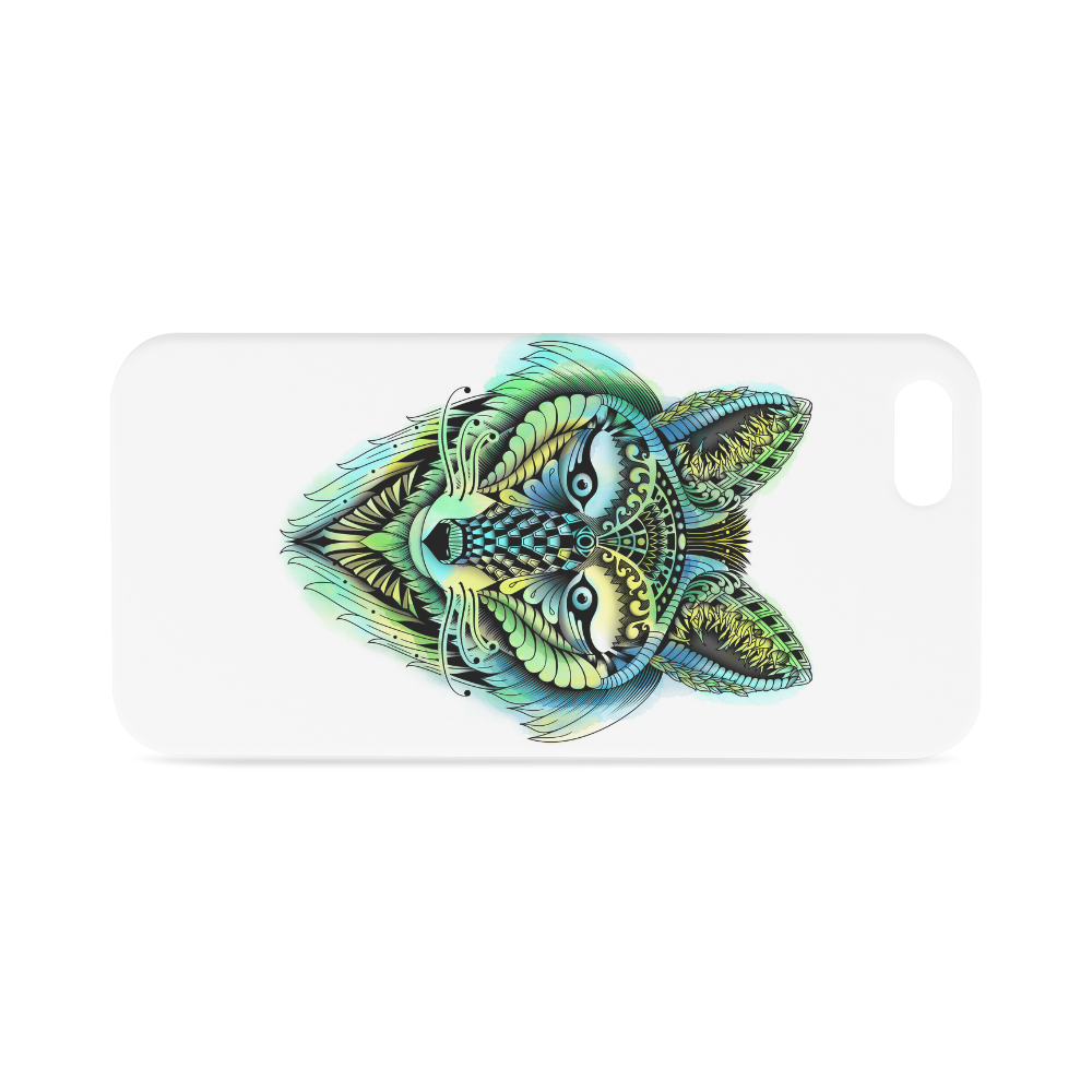 water color ornate foxy wolf head ornate drawing Hard Case for iPhone SE
