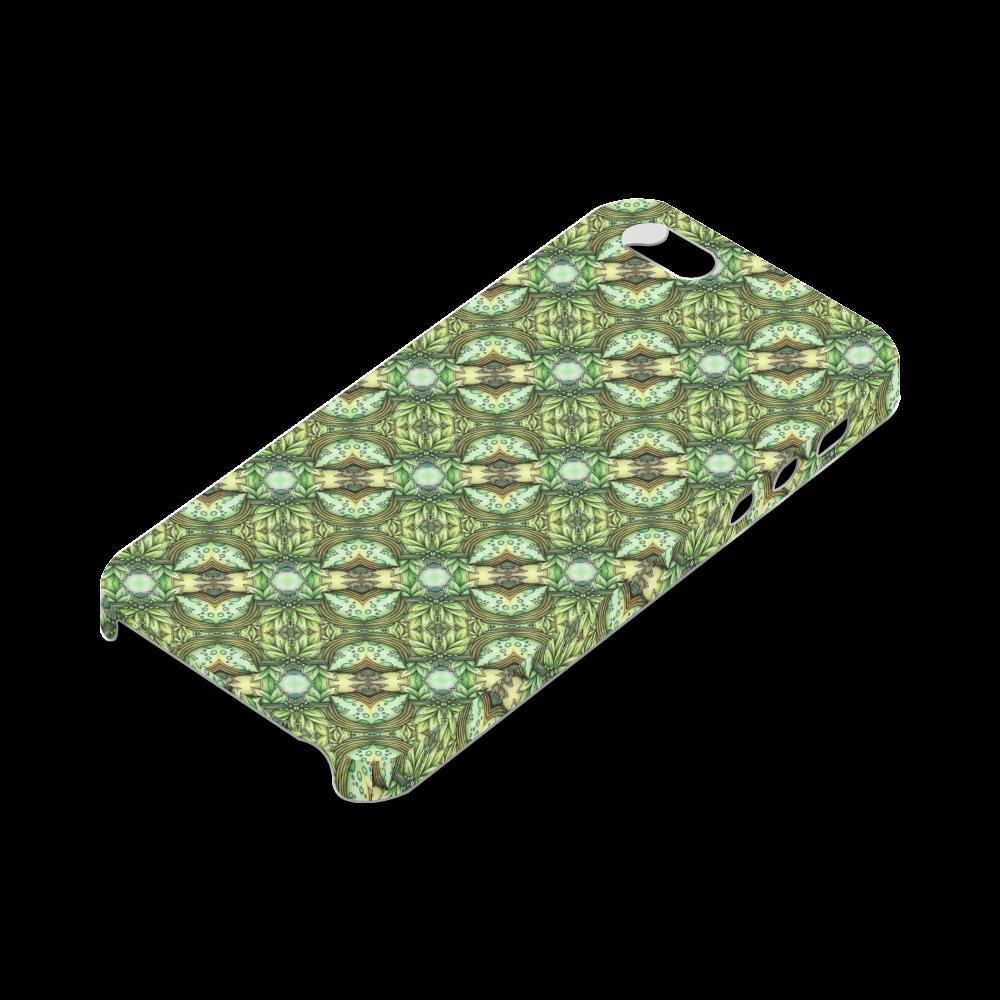 Mandy Green - water garden pattern Hard Case for iPhone SE