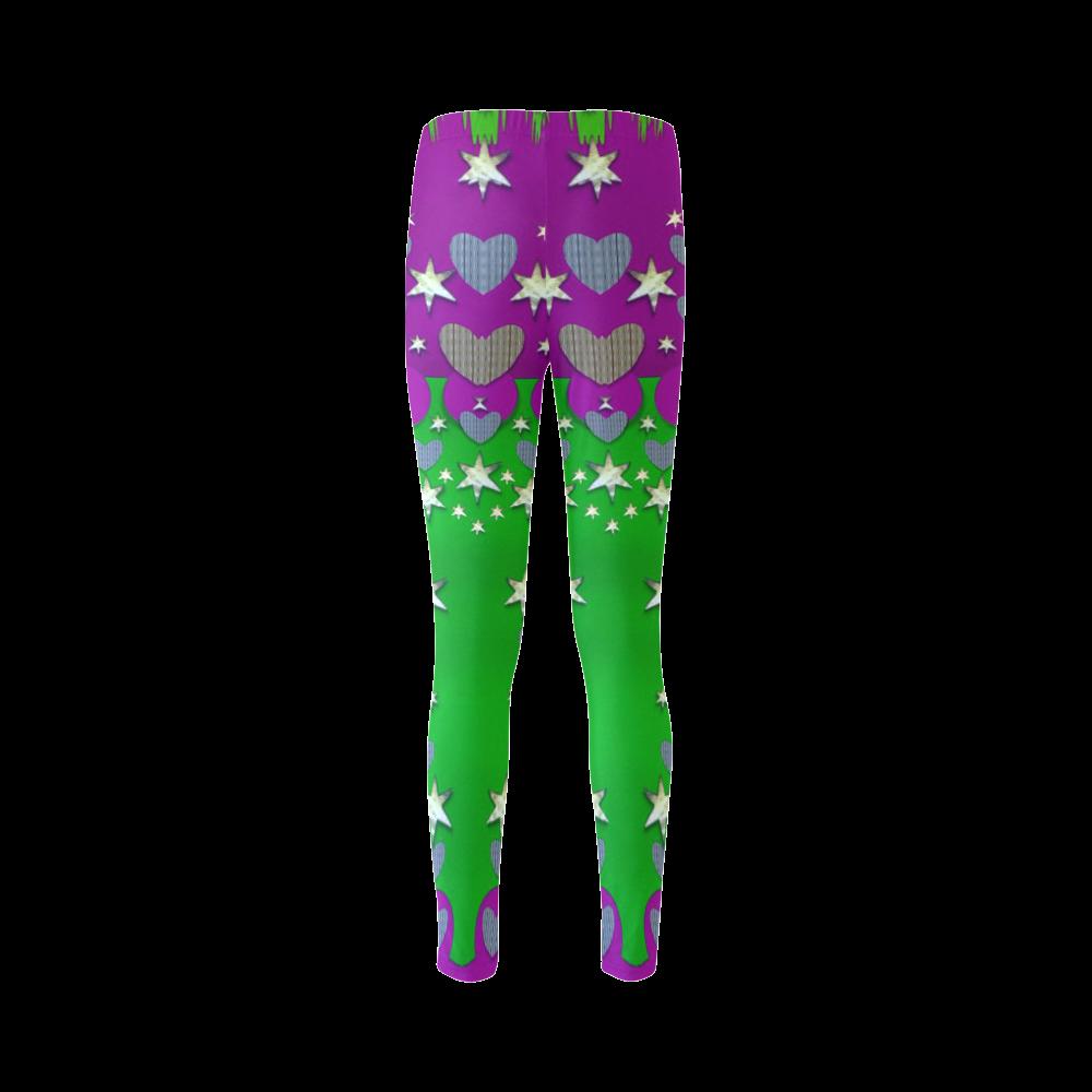 The Brightest sparkling stars Is Love Cassandra Women's Leggings (Model L01)