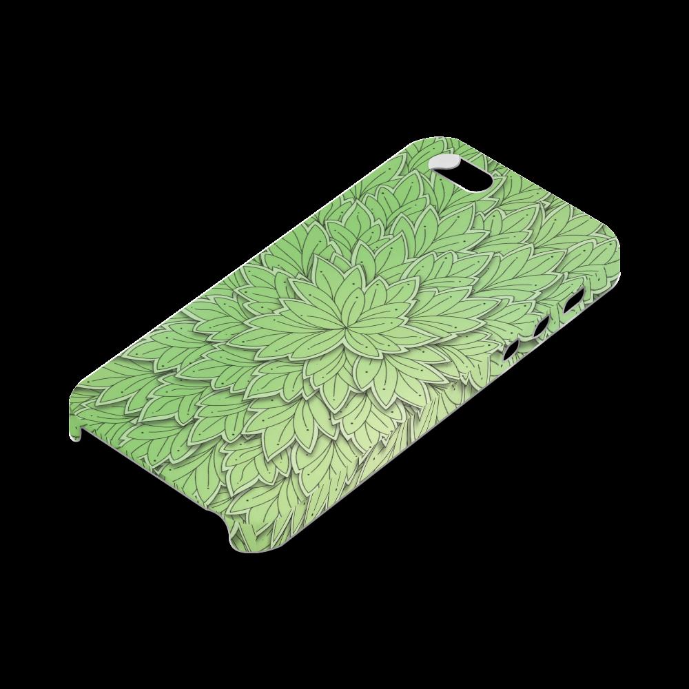 Mandy Green floating Leaves dark Hard Case for iPhone SE