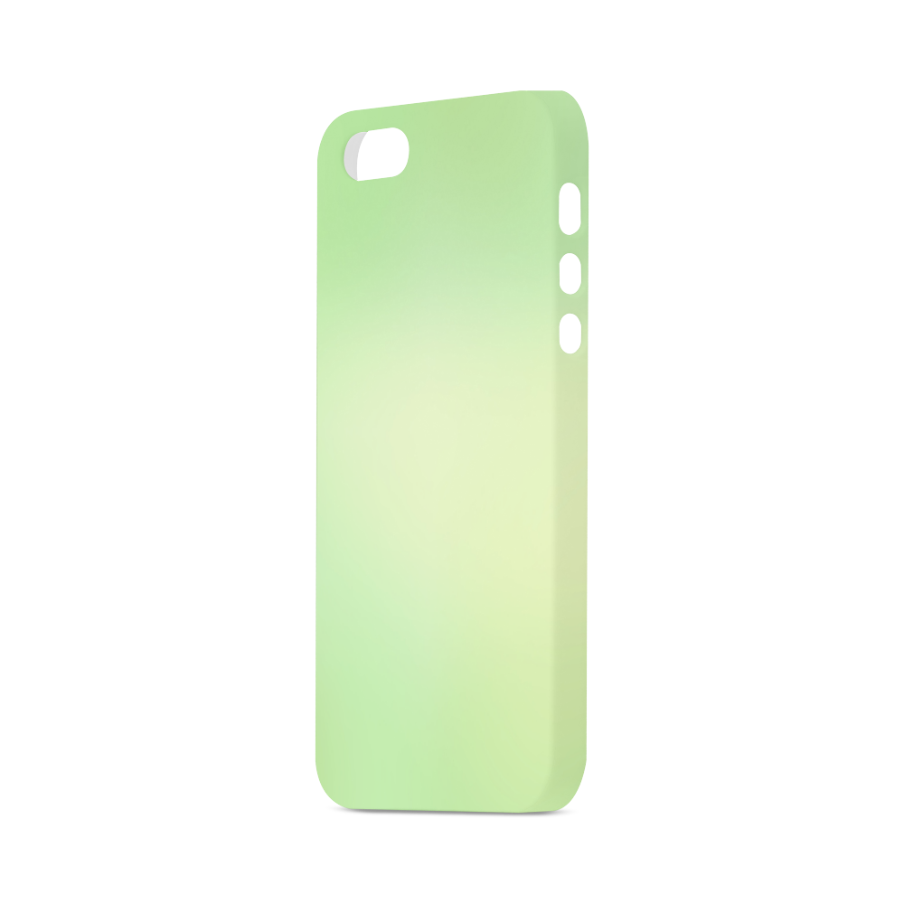 Mandy Green - soft green abstract Hard Case for iPhone SE
