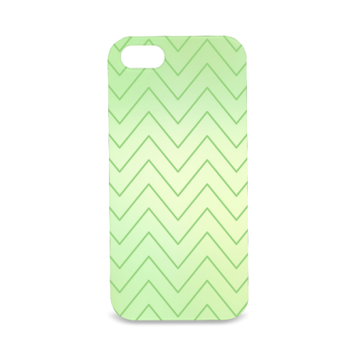 Mandy Green zigzag Chevron 2 Hard Case for iPhone SE