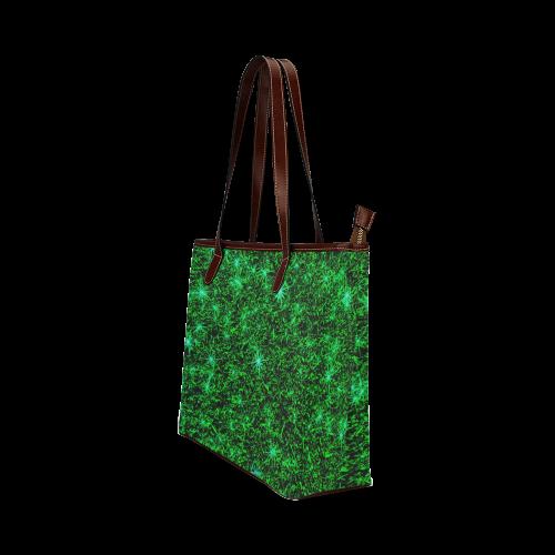 Sparkling Green - Jera Nour | Shoulder Tote Bag (Model 1646)