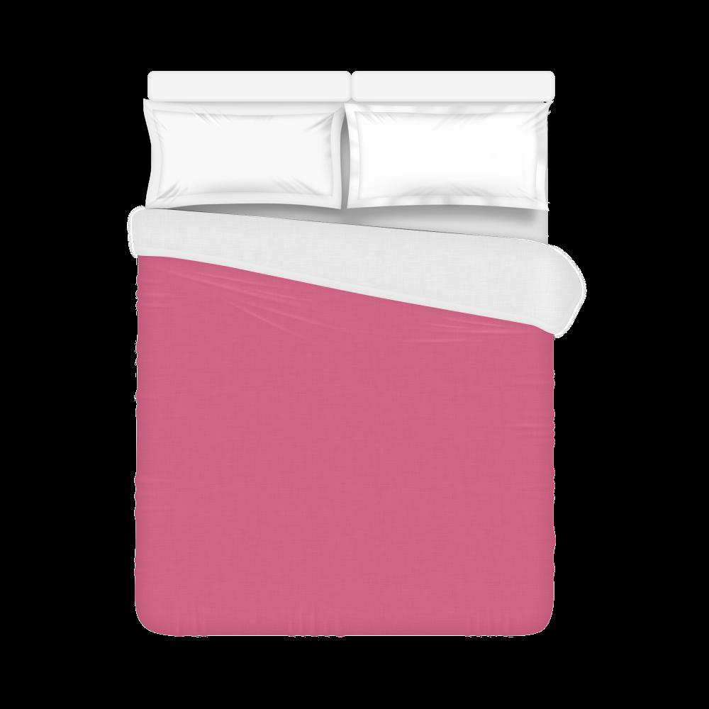 """Pink Flambé Color Accent Duvet Cover 86""""x70"""" ( All-over-print)"""