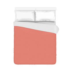 """Coral Color Accent Duvet Cover 86""""x70"""" ( All-over-print)"""