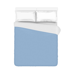 """Placid Blue Color Accent Duvet Cover 86""""x70"""" ( All-over-print)"""