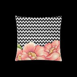 """flower power Custom Zippered Pillow Case 20""""x20""""(Twin Sides)"""