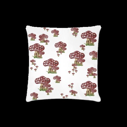 "Mushrooms Custom Zippered Pillow Case 16""x16""(Twin Sides)"
