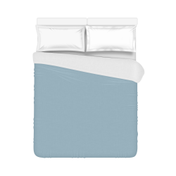 """Forget-Me-Not Color Accent Duvet Cover 86""""x70"""" ( All-over-print)"""