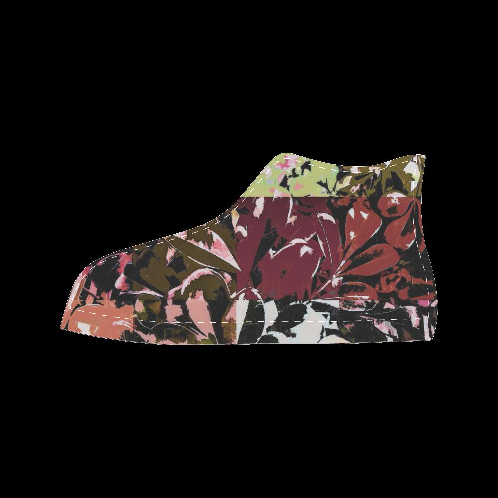 Foliage Patchwork #6 - Jera Nour Women's Classic High Top Canvas Shoes (Model 017)