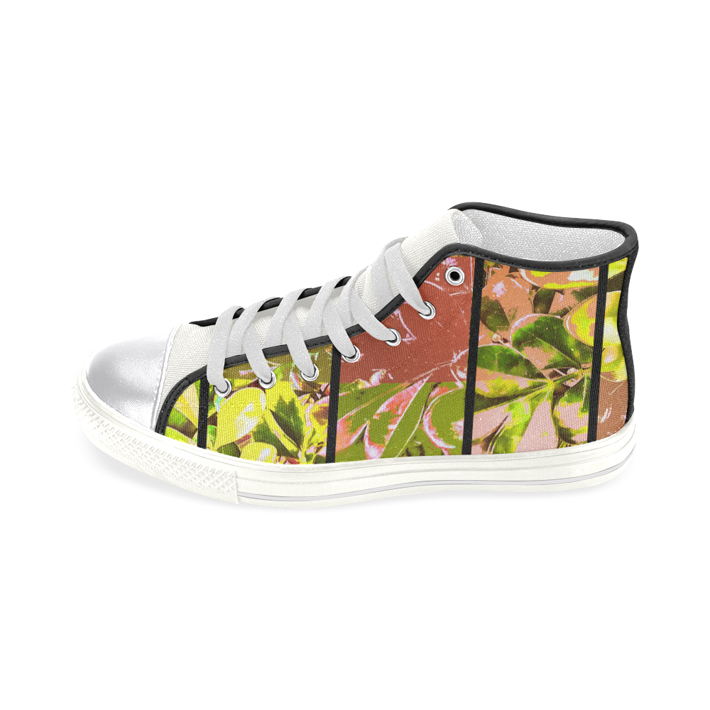 Foliage Patchwork #5 - Jera Nour Women's Classic High Top Canvas Shoes (Model 017)