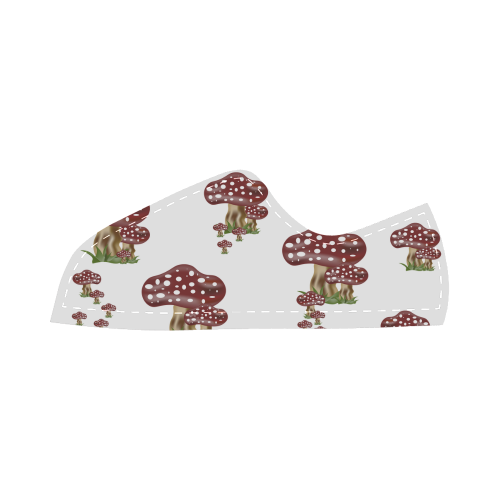 Mushrooms Canvas Kid's Shoes (Model 016)