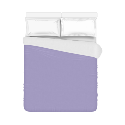 """Violet Tulip Color Accent Duvet Cover 86""""x70"""" ( All-over-print)"""