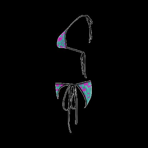 World Wide Flying Butterflies Custom Bikini Swimsuit