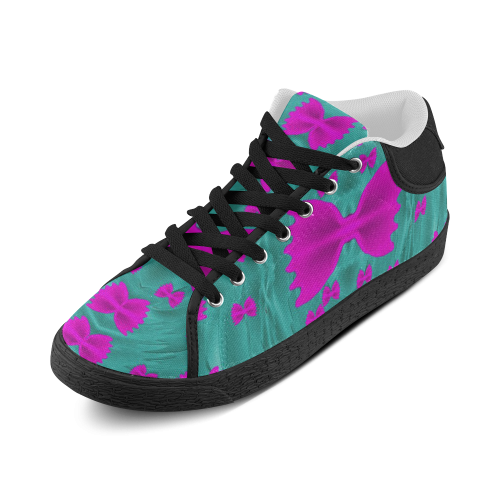 World Wide Flying Butterflies Women's Chukka Canvas Shoes (Model 003)