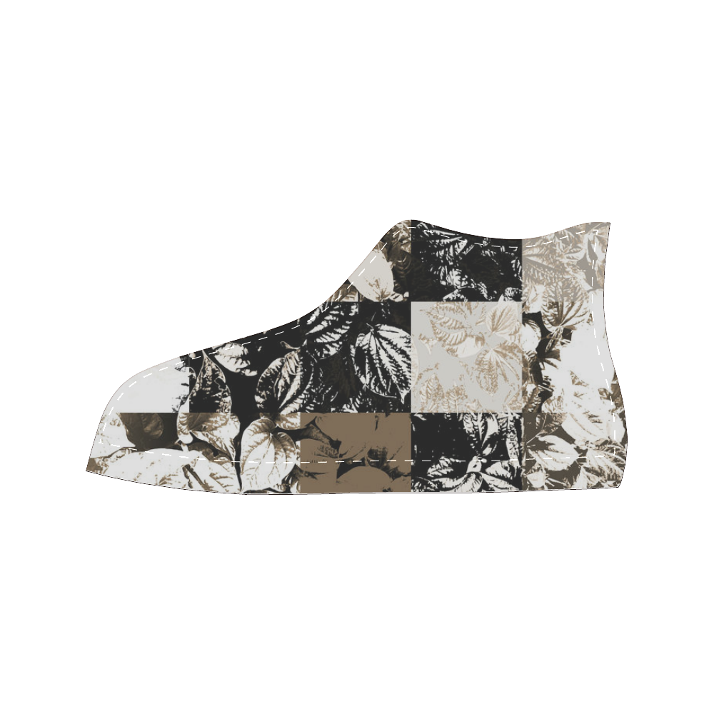Foliage Patchwork #8 - Jera Nour Women's Classic High Top Canvas Shoes (Model 017)