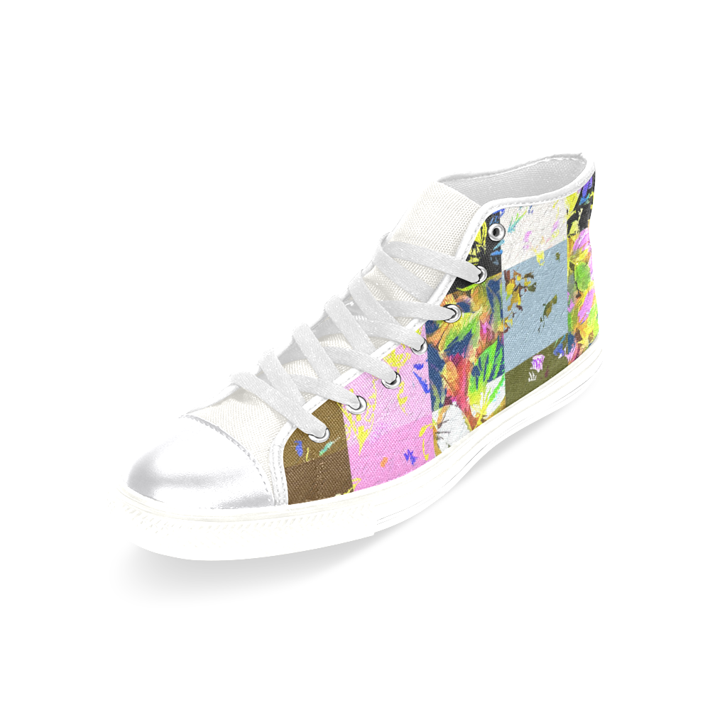 Foliage Patchwork #3 - Jera Nour Women's Classic High Top Canvas Shoes (Model 017)