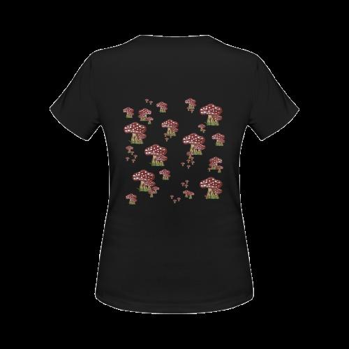 Mushrooms Women's Classic T-Shirt (Model T17)