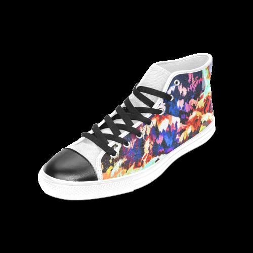 Foliage Patchwork #7 - Jera Nour Women's Classic High Top Canvas Shoes (Model 017)
