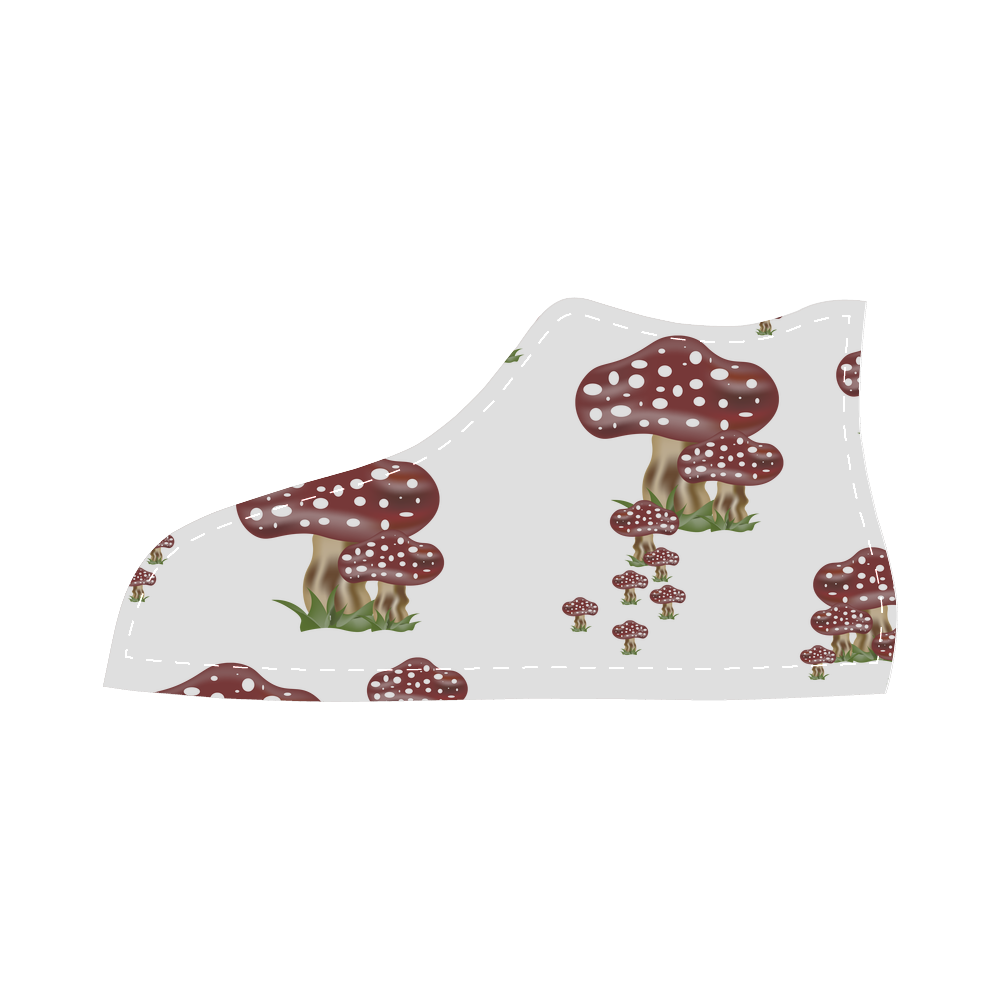 Mushrooms High Top Canvas Kid's Shoes (Model 002)