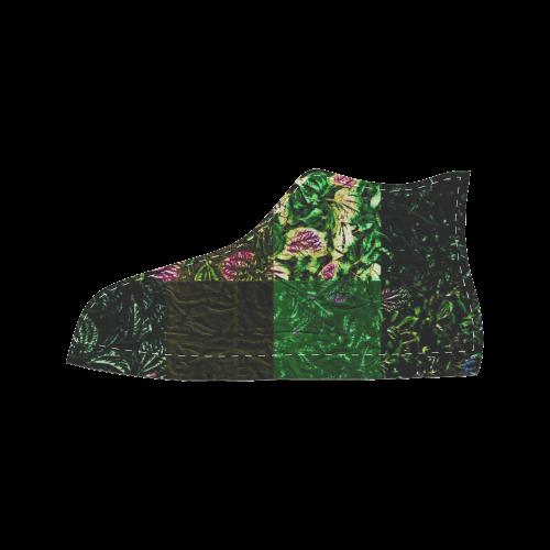 Foliage Patchwork #1 - Jera Nour Women's Classic High Top Canvas Shoes (Model 017)