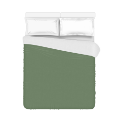 """Vineyard Green Color Accent Duvet Cover 86""""x70"""" ( All-over-print)"""