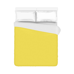 """Buttercup Color Accent Duvet Cover 86""""x70"""" ( All-over-print)"""