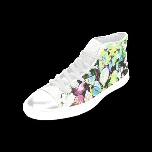 Foliage Patchwork #2 - Jera Nour Women's Classic High Top Canvas Shoes (Model 017)