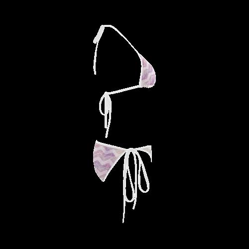 Chevron with watercolors Custom Bikini Swimsuit