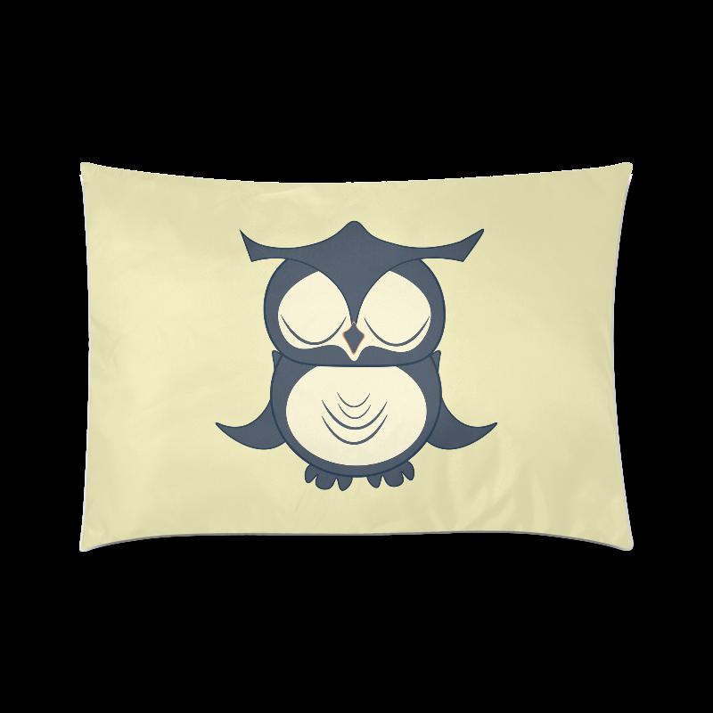 "Owl Custom Zippered Pillow Case 20""x30""(Twin Sides)"