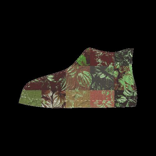 Foliage Patchwork #4 - Jera Nour Men's Classic High Top Canvas Shoes (Model 017)