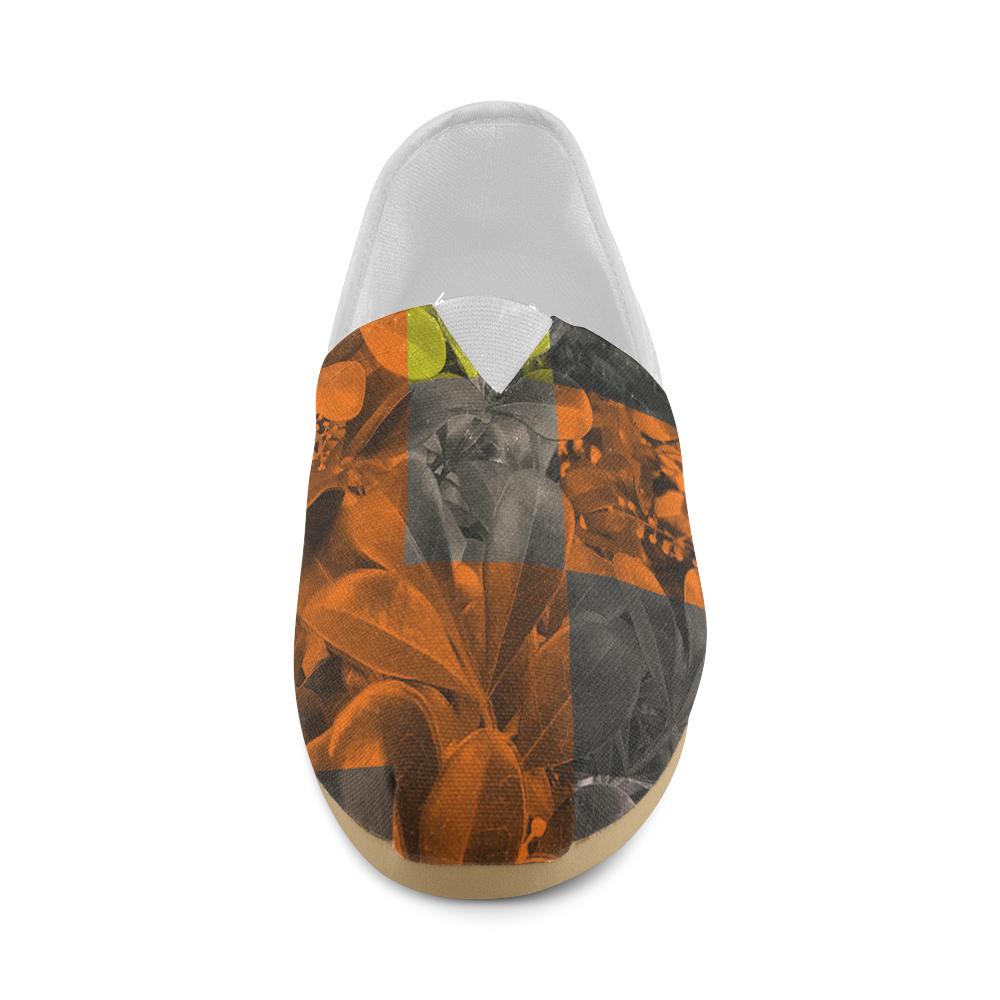 Foliage Patchwork #9 - Jera Nour Unisex Casual Shoes (Model 004)