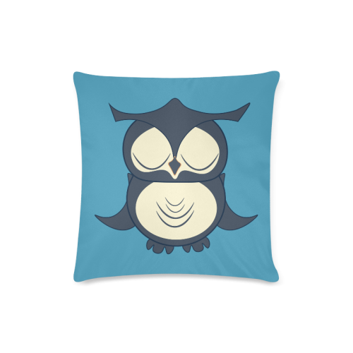 "Owl Custom Zippered Pillow Case 16""x16""(Twin Sides)"