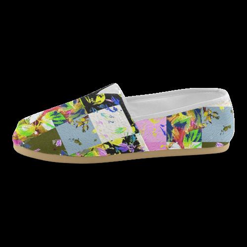 Foliage Patchwork #3 - Jera Nour Unisex Casual Shoes (Model 004)
