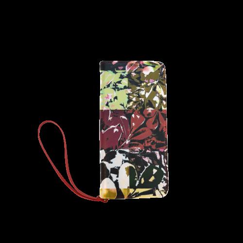Foliage Patchwork #6 - Jera Nour Women's Clutch Wallet (Model 1637)