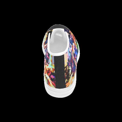 Foliage Patchwork #7 - Jera Nour Men's Classic High Top Canvas Shoes (Model 017)