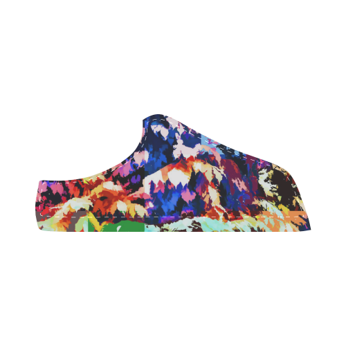 Foliage Patchwork #7 - Jera Nour Women's Chukka Canvas Shoes (Model 003)