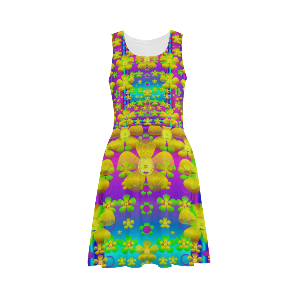 Outside the curtain it is peace florals and love Atalanta Sundress (Model D04)